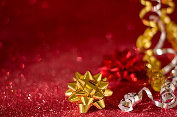 preparar para o natal - gradients golden ribbons imagens e fotografias de stock