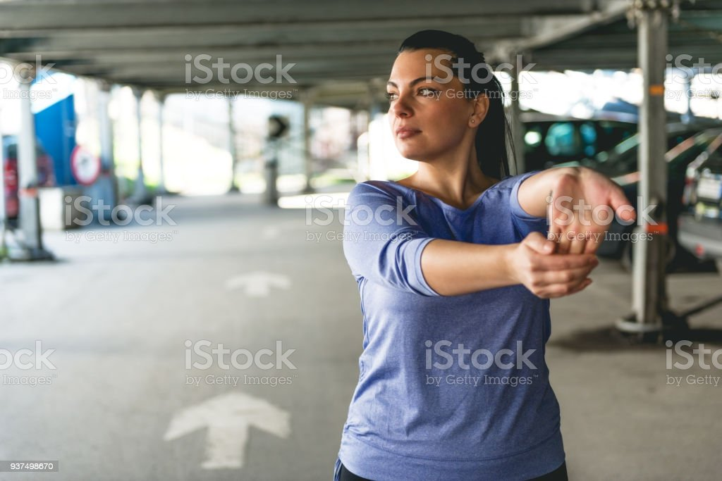 Preparing for fitness stock photo