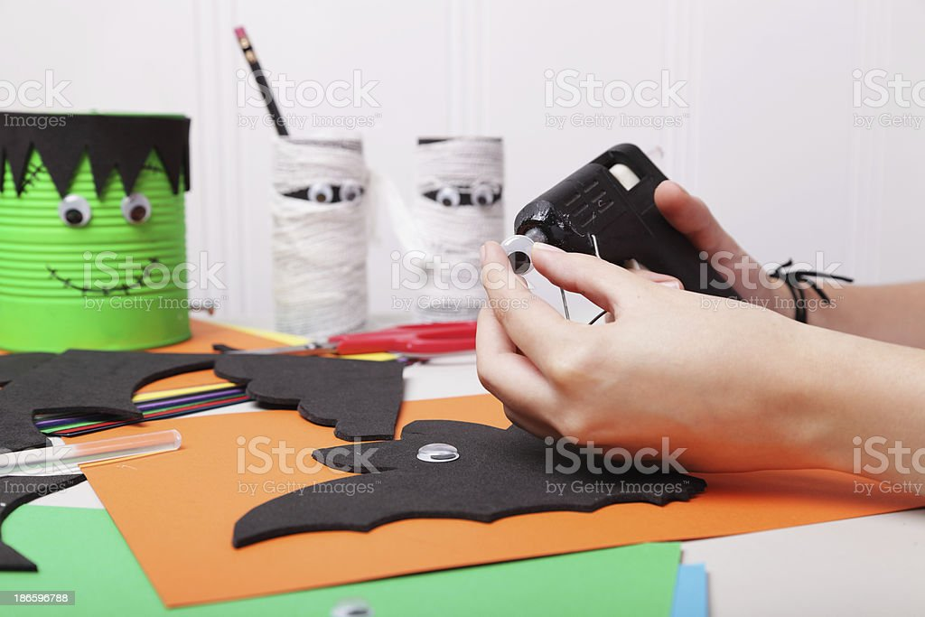 Preparing for Halloween royalty-free stock photo