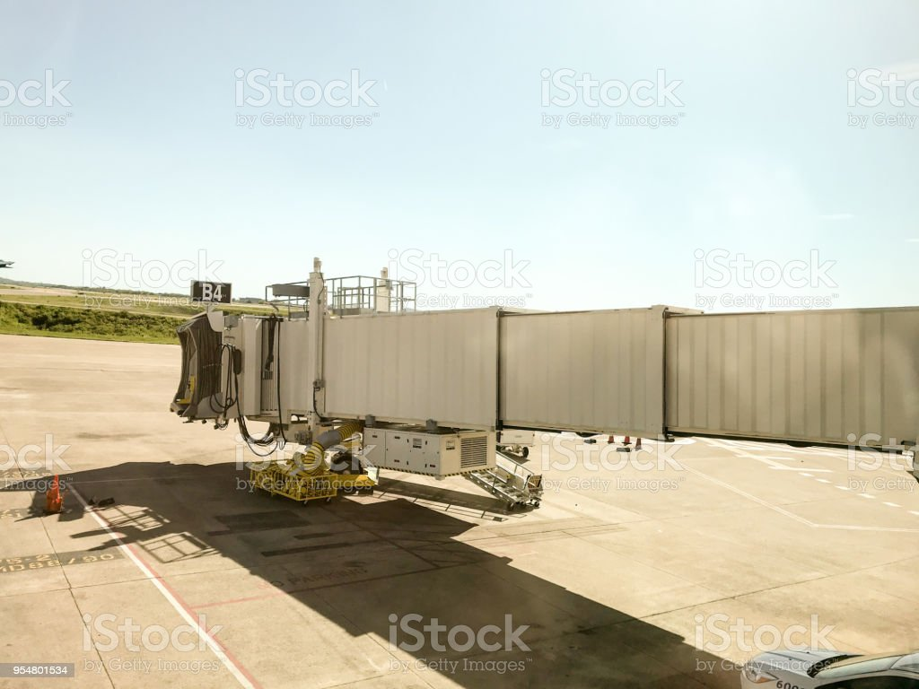 Preparing for Takeoff stock photo