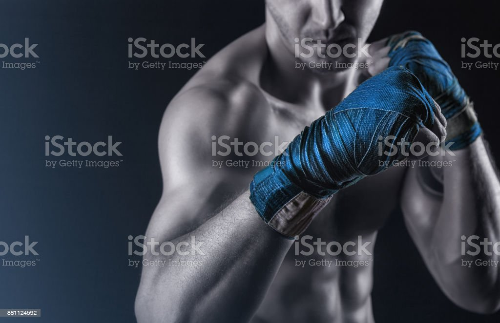 Preparing for the fight stock photo