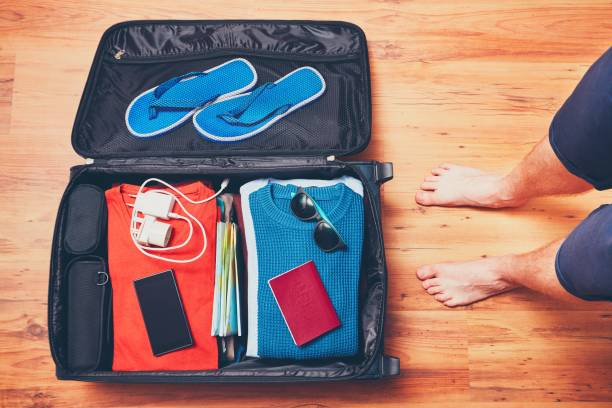 preparing for the trip - adapter stock-fotos und bilder