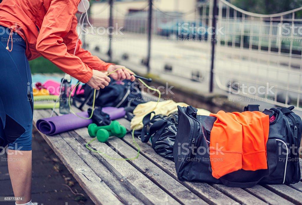 Vorbereitung für Ausbildung im Freien – Foto