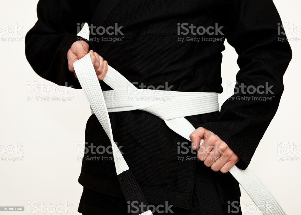 Preparing for training stock photo