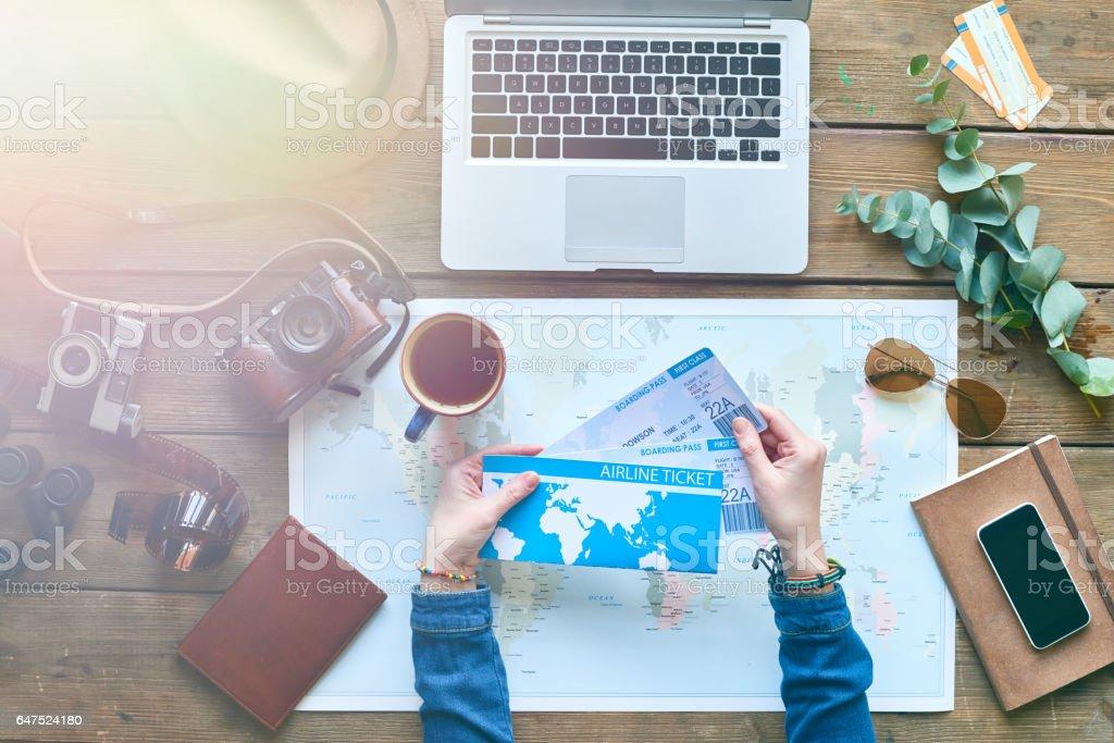 Preparing for travel stock photo