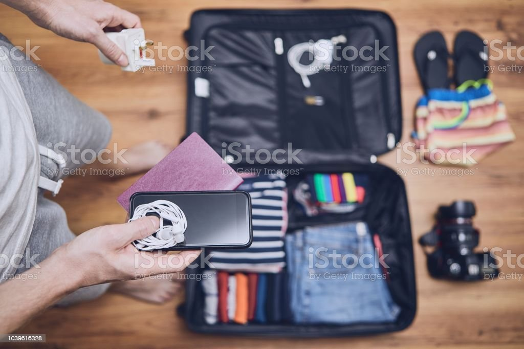 Preparing for trip stock photo