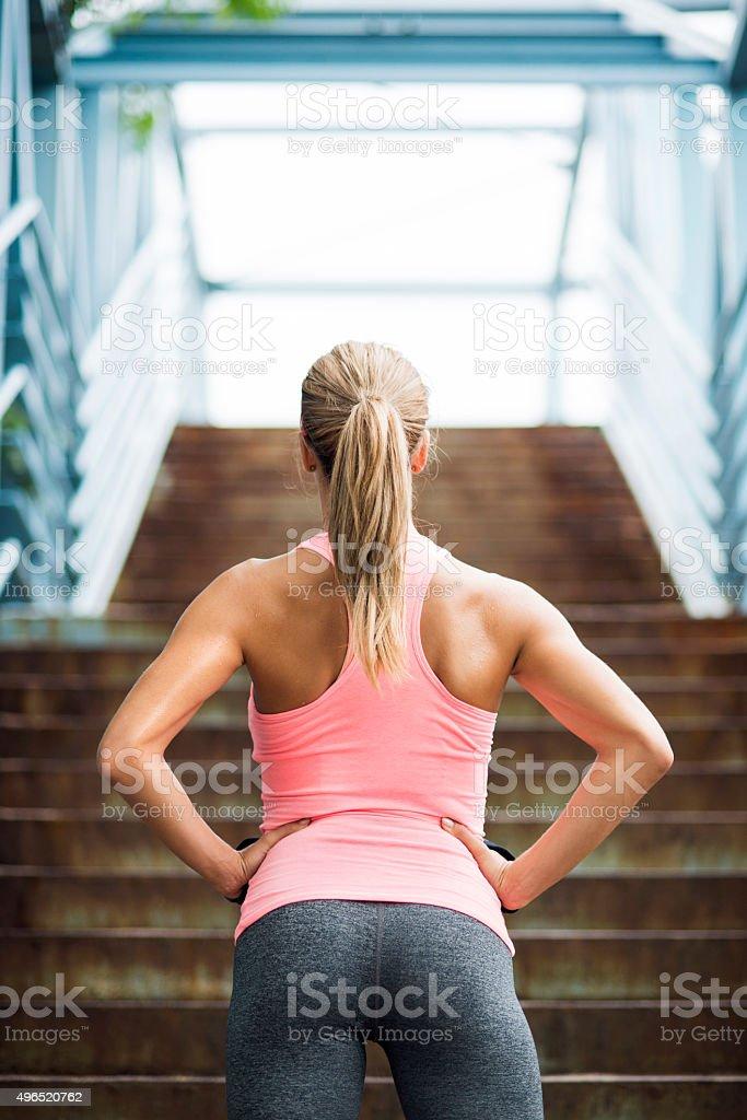 Preparing for workout foto
