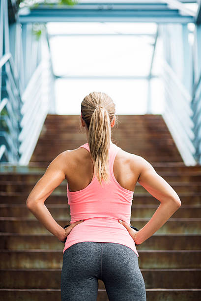 preparing for workout - buttock stock photos and pictures