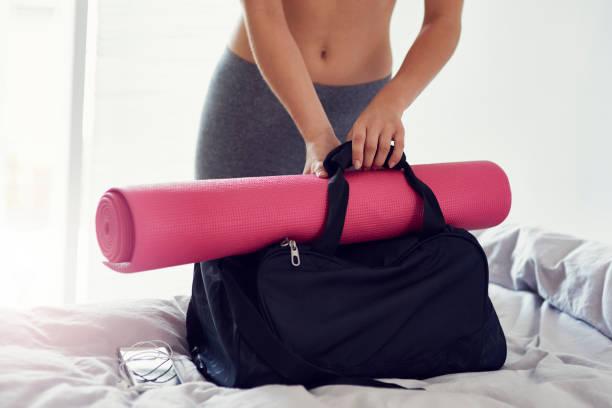 Vorbereitung Sporttasche wie zu Hause fühlen. – Foto