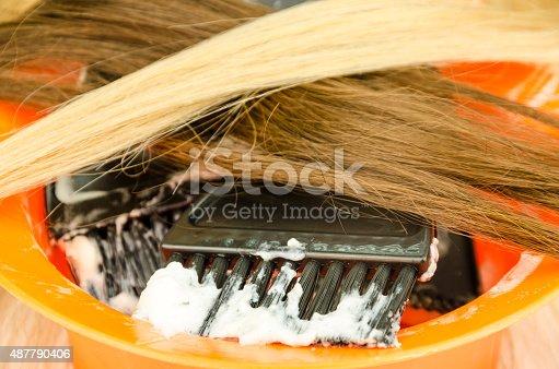 istock Preparing hair dyes 487790406