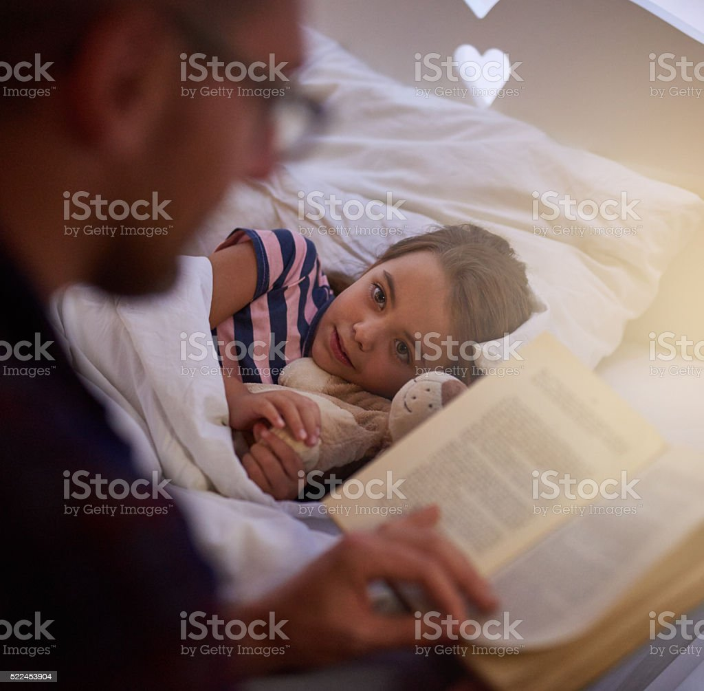 Preparing her to sleep stock photo