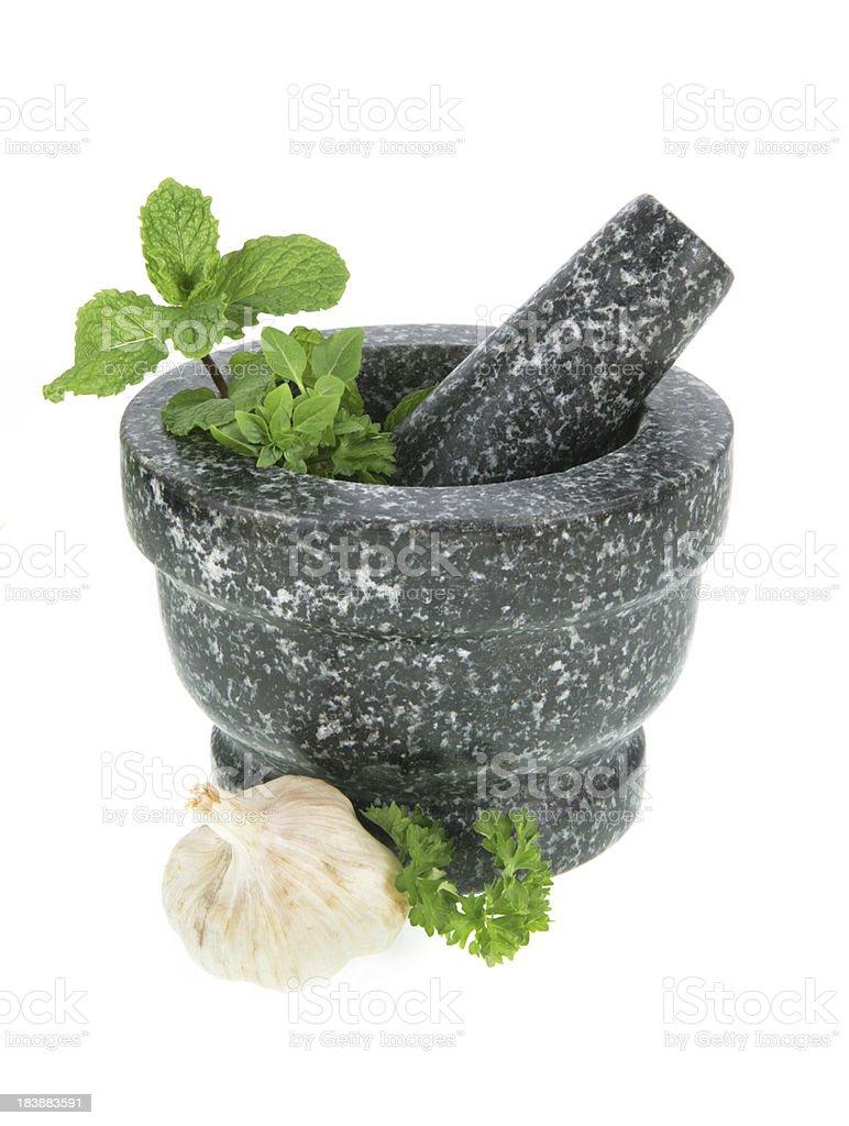 Preparing Herbs stock photo