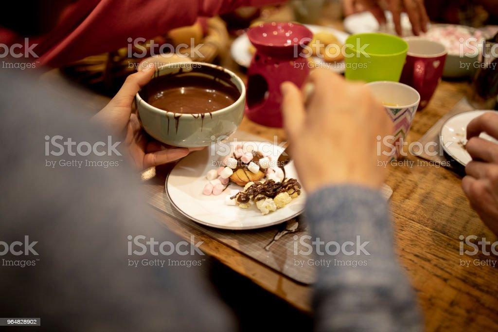 Preparing his Dessert royalty-free stock photo