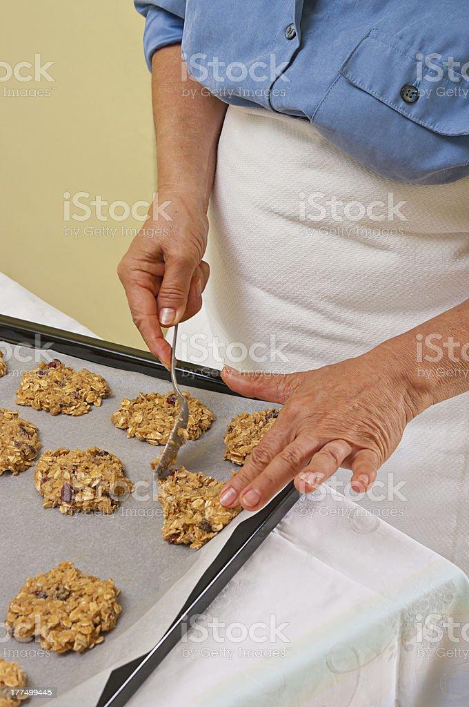 Preparing homemade cookies stock photo