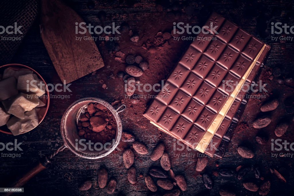 Preparing Homemade Good Quality Chocolate Bars royalty-free stock photo