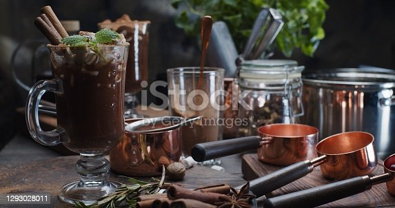 Preparing homemade hot chocolate for two