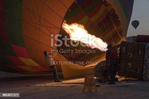 1035635902 istock photo Preparing Hot Air Balloons To Fly over Cappadocia 860802322