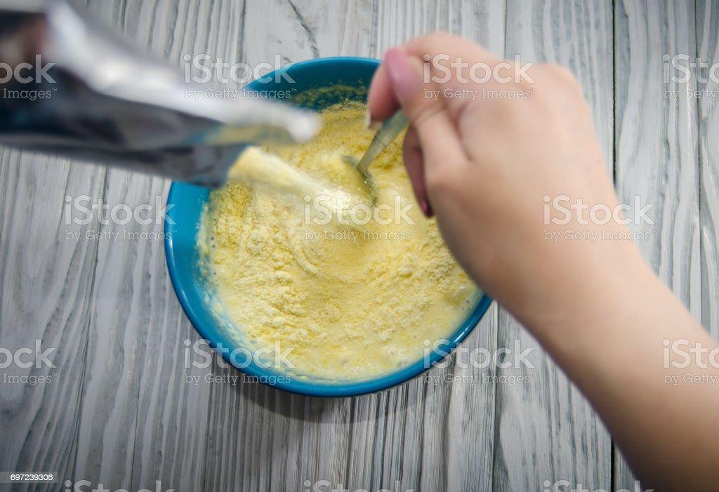 Vorbereitung der Säugling Getreide – Foto
