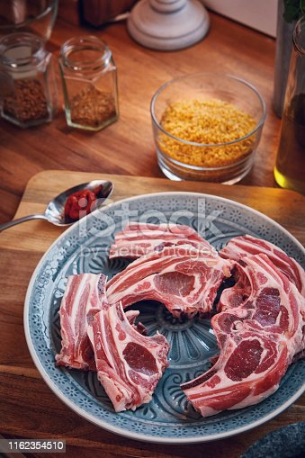 Preparing Lamb Chops with Oriental Spice Mix
