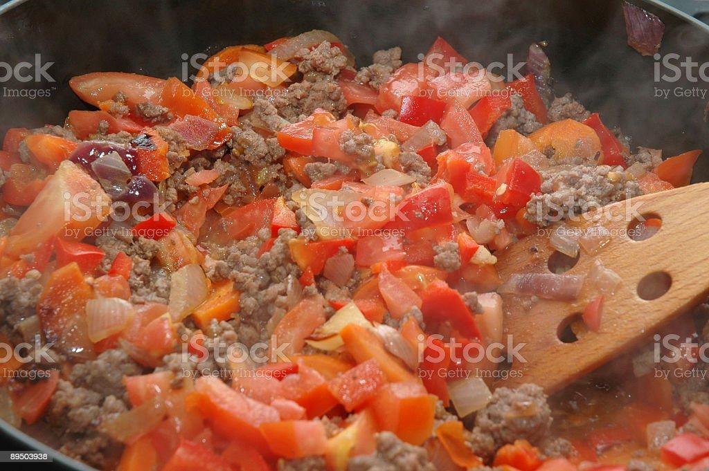 Préparer les lasagnes - 4 photo libre de droits