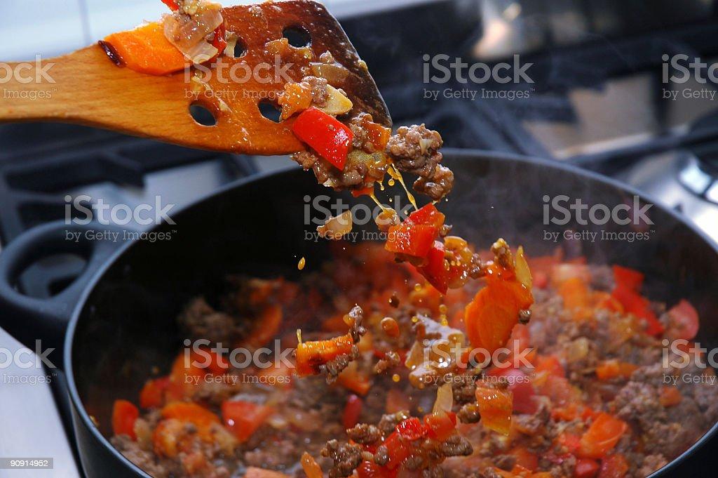 Preparing Lasagna - 5 stock photo