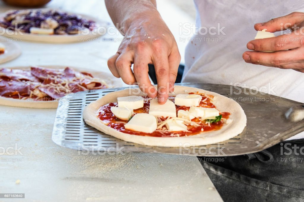 Preparing Pizza stock photo