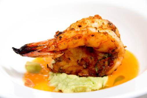 Spicy prawn appetizer