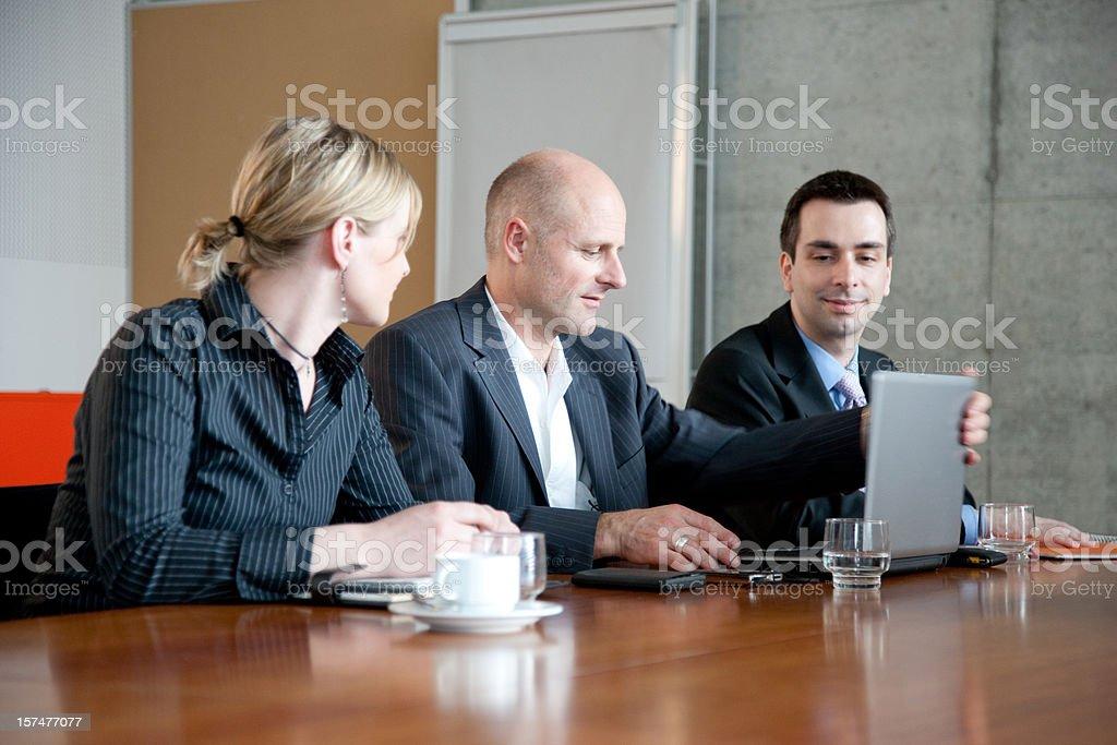 Preparing Presentation Business Meeting royalty-free stock photo