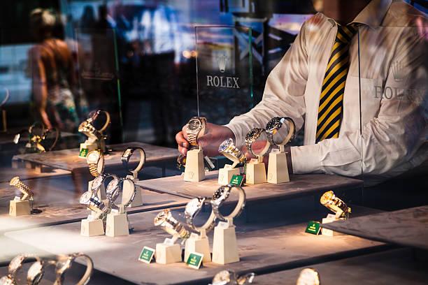 Vorbereitung Rolex Fenster shop – Foto