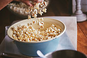 Preparing Salted Caramel Popcorn