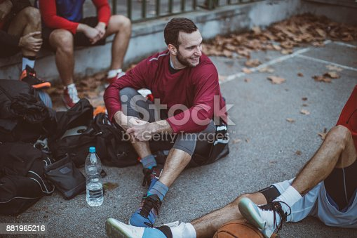 istock Preparing strategy, before the game 881965216
