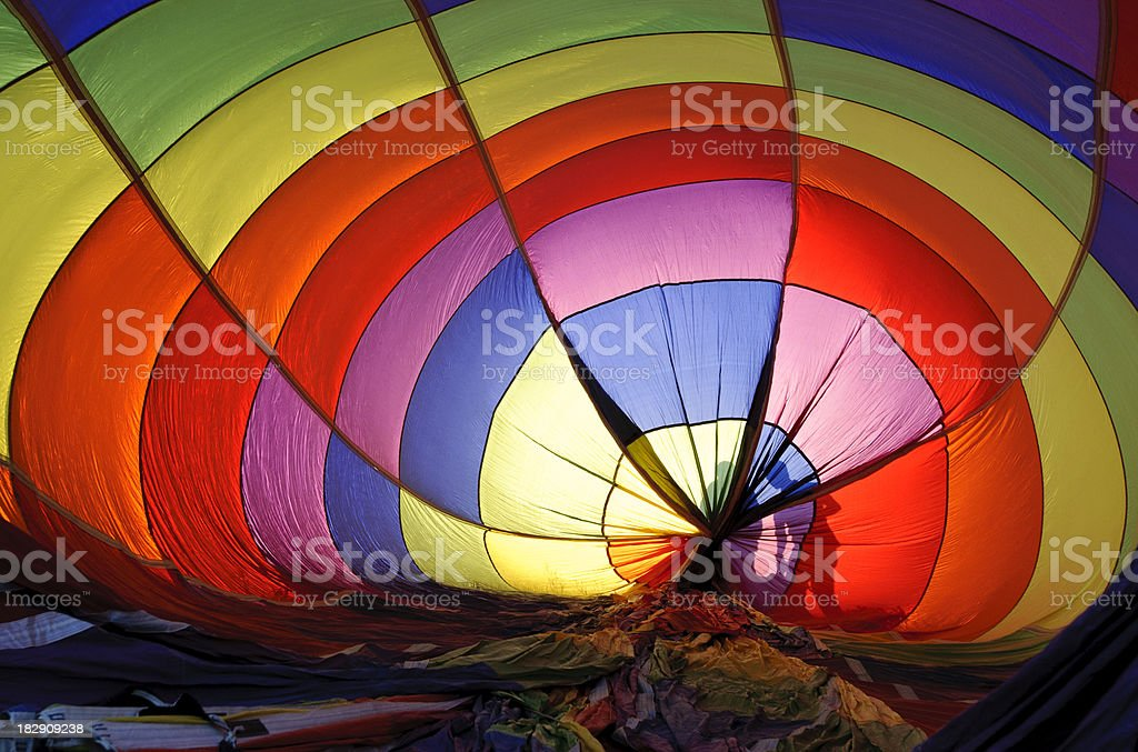 Preparing the Balloon royalty-free stock photo