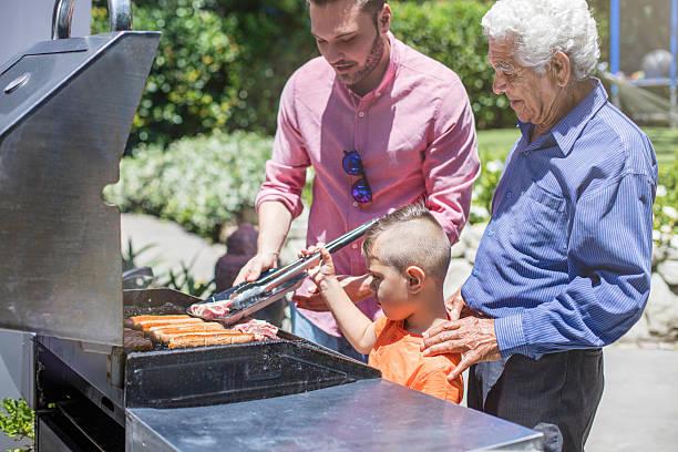 Preparing the barbecue stock photo