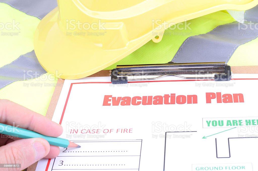 Preparing the Evacuation Plan stock photo