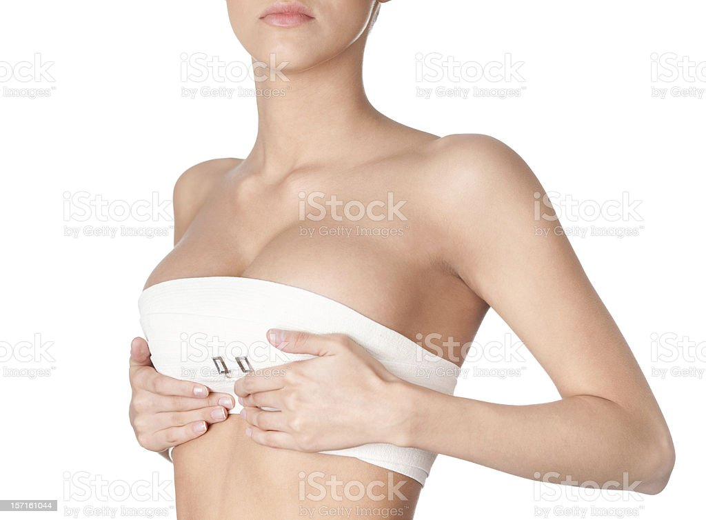 Preparing to breast correction stock photo