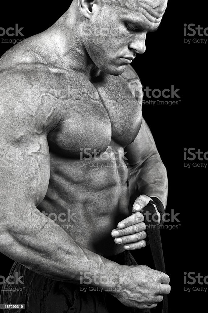 Preparing to fight royalty-free stock photo