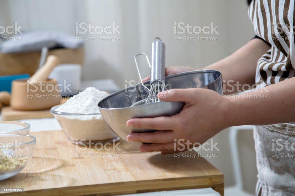 preparing to made bread stock photo