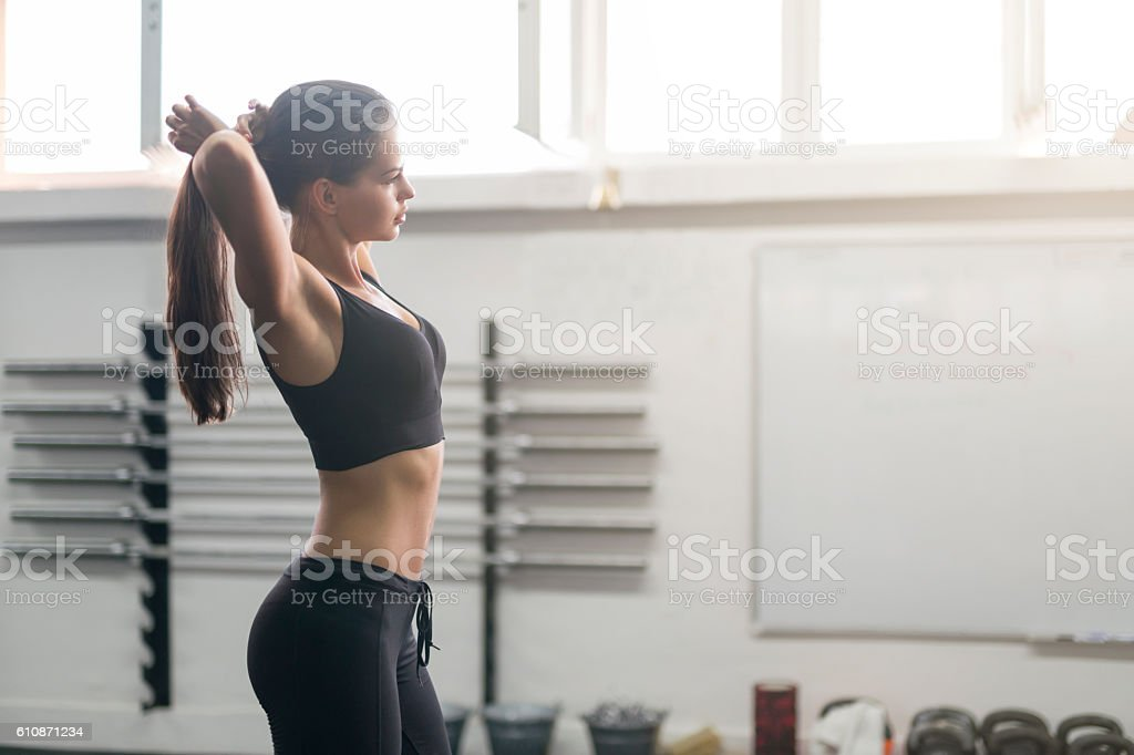 Preparing to run my body - foto de stock