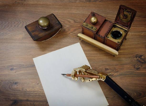 Vorbereitung auf einen Brief. – Foto