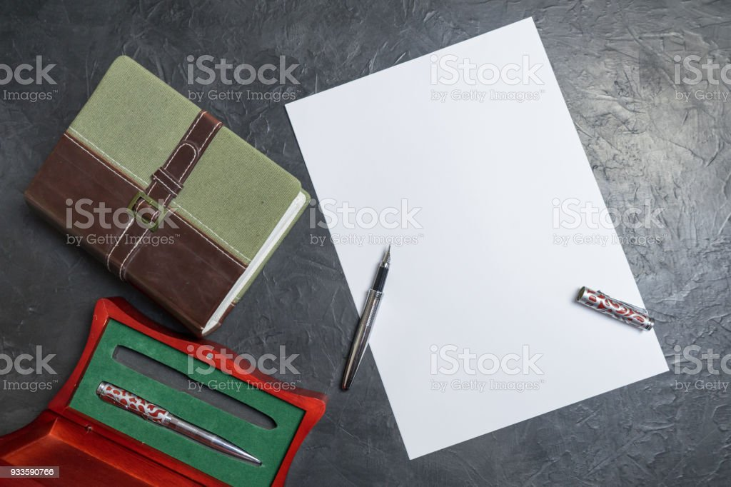 Preparing to write the will. Place for your text. stock photo