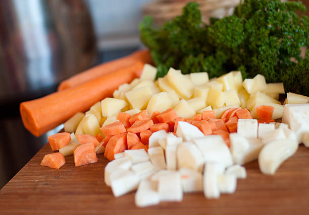 Gemüsesuppe vorbereiten Gemüse – Foto