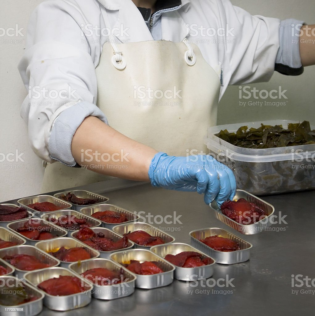 Preparing vegetables to can stock photo