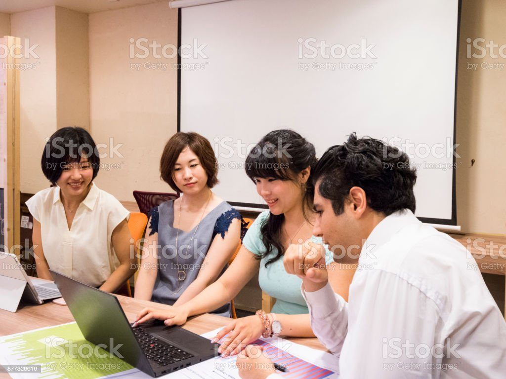 Prepartion for documents in the team. stock photo