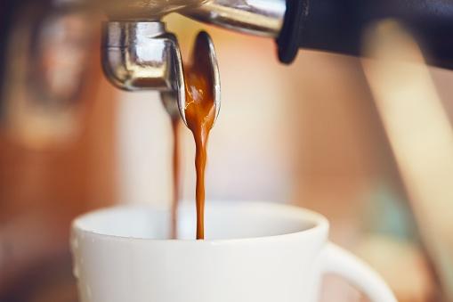 Prepartion of the espresso coffee