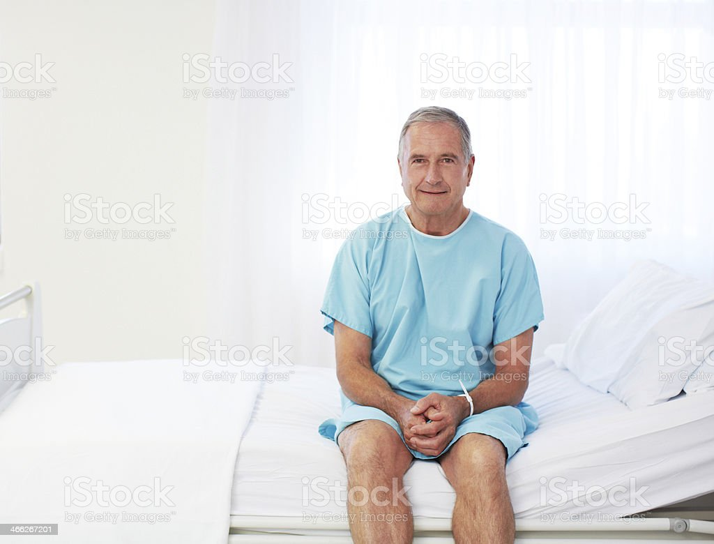 Prepped for his surgery stock photo