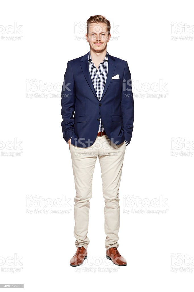Preppy your white guy in yacht club clothes stock photo