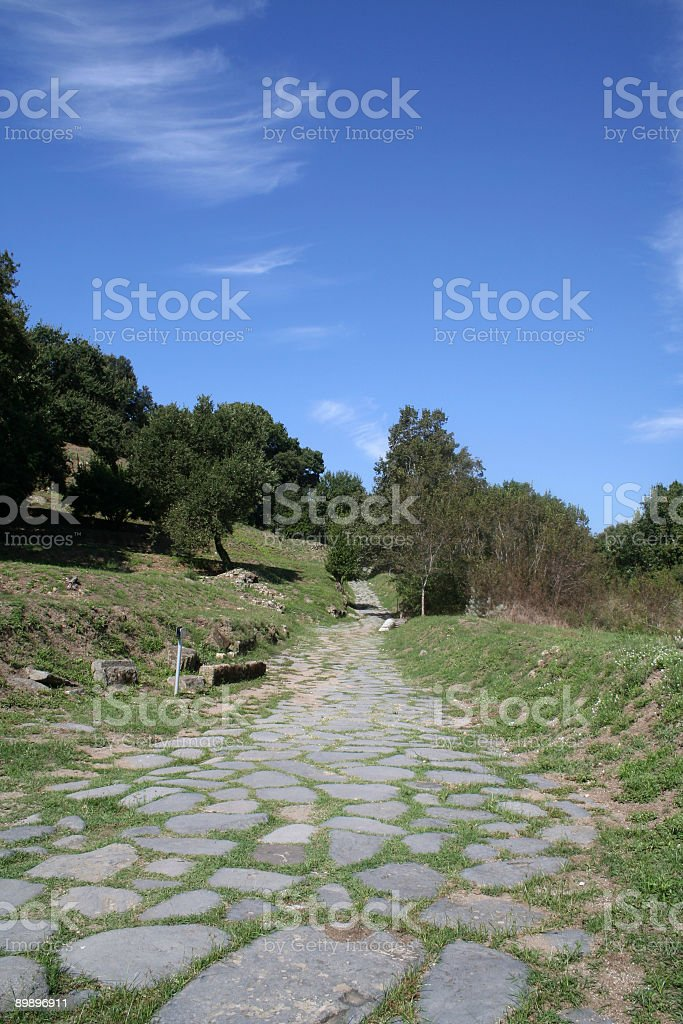 Pre-roman age street royalty-free stock photo