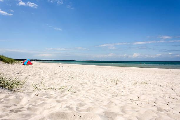 prerow beach - prerow stock-fotos und bilder