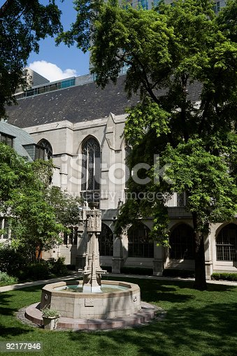 istock Presbyterian Church Courtyard, Chicago 92177946