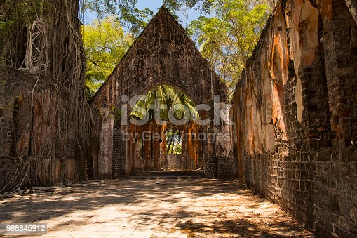 istock Presbyterian Church, Ross Island, Andaman 968845912